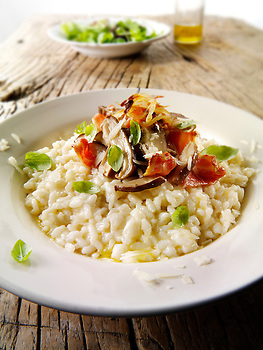 Classic risotto with wild porcini mushrooms and bacon (Paul Williams)