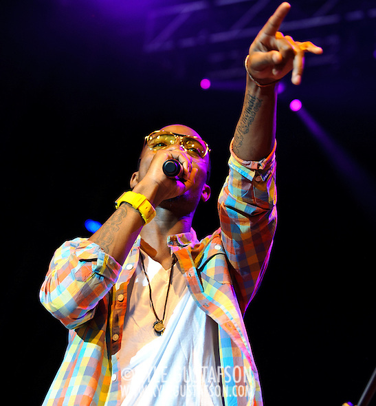 Columbia, MD - August 7th, 2010:  Atlanta rapper and producer B.o.B. (real name Bobby Ray Simmons) performs at the Summer Spirit Festival. His debut album, B.o.B Presents: The Adventures of Bobby Ray, is currently the sixth best selling hip-hop album of 2010.  (Photo by Kyle Gustafson/For The Washington Post) (Photo by Kyle Gustafson/For The Washington Post)