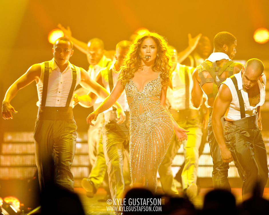 """WASHINGTON, DC - July 28th - Pop superstar Jennifer Lopez performs at the Verizon Center as part of her """"Dance Again"""" world tour. (photo by Kyle Gustafson) (Photo by Kyle Gustafson)"""