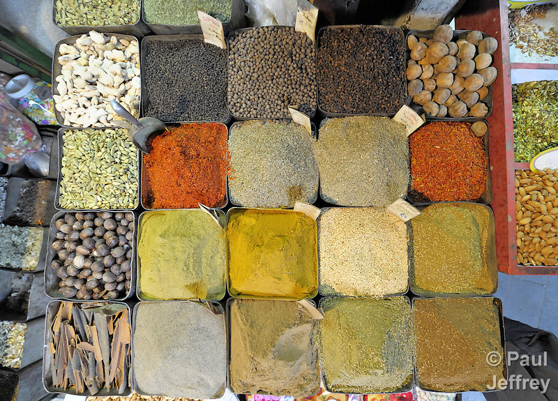 Spices for sale in the Old City of Damascus, Syria. (Paul Jeffrey)