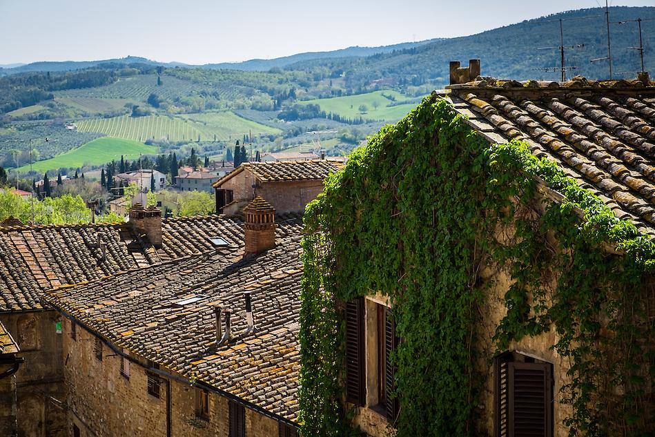 SAN GIMIGNANO, ITALY - CIRCA MAY 2015:  Rooftops in San Gimignano in Tuscany (Daniel Korzeniewski)