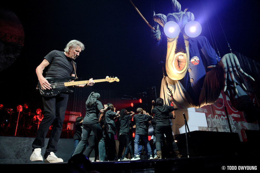 "Roger Waters performs ""The Wall"" on October 29, 2010 at the Scottrade Center in St. Louis, Missouri (TODD OWYOUNG)"