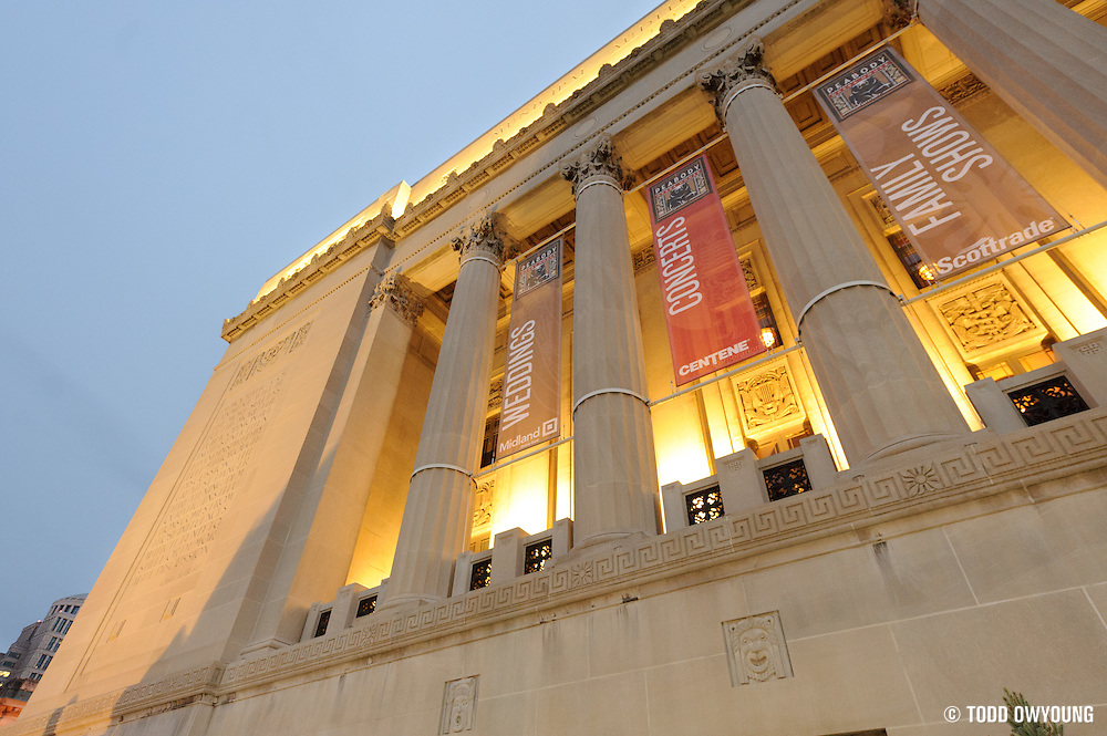 Exterior details at the newly rennovated Peabody Opera House before the performance by Widespread Panic on their 25th anniversary tour in St. Louis on October 12, 2011. (Todd Owyoung)