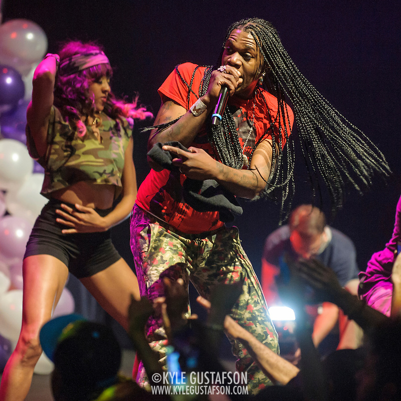 """WASHINGTON, DC - October 2nd, 2014 - Big Freedia  performs at the Howard Theatre in Washington, D.C.  Freedia is credited with bringing New Orleans """"bounce music"""" to the masses. His latest album, Just Be Free, was released in June. (Photo by Kyle Gustafson/For The Washington Post) (Kyle Gustafson/For The Washington Post)"""