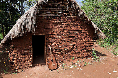 Ceremonial hut in the Guarani village of Andresito near San Ignacio, Misiones, Argentina. (Jason Rothe)
