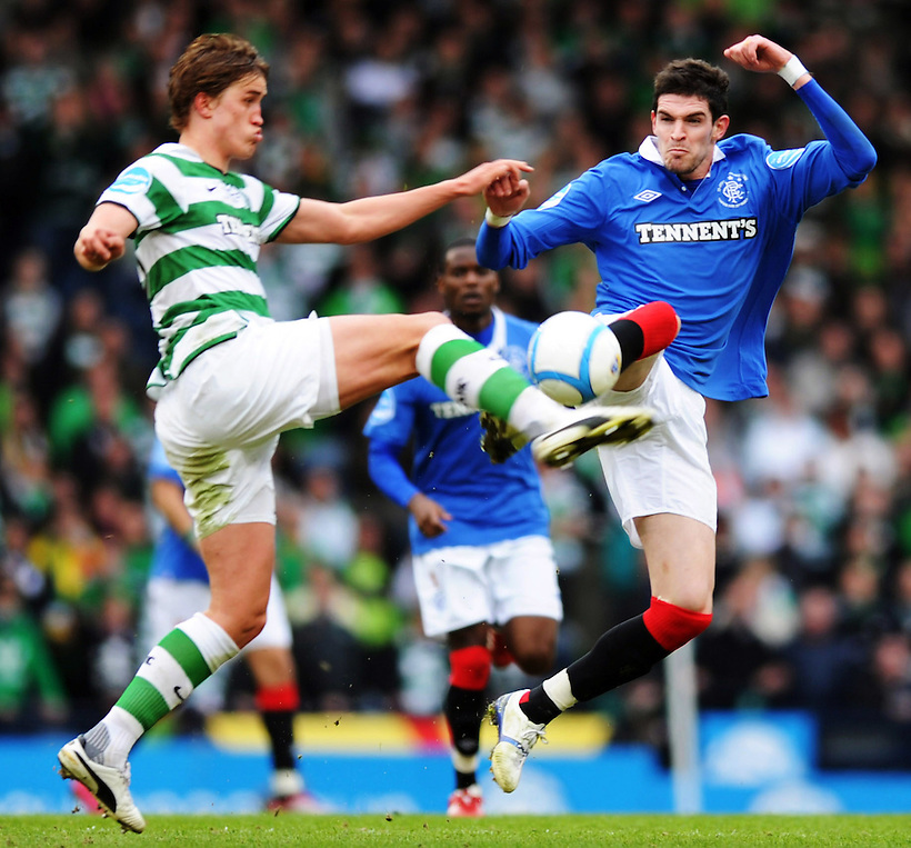 20TH MAR 2011, CELTIC V RANGERS, CIS CUP FINAL, HAMPDEN PARK, GLASGOW, THOMAS ROGNE AND KYLE LAFFERTY, ROB CASEY PHOTOGRAPHY. (ROB CASEY/ROB CASEY PHOTOGRAPHY)