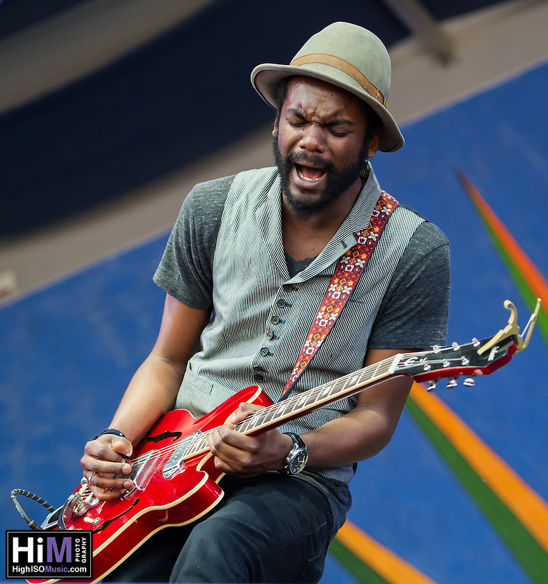 Gary Clark, Jr. performs at the 2013 New Orleans Jazz and Heritage Festival on April 26, 2013 in New Orleans, LA.  © HIGH ISO Music, LLC / Retna, Ltd. (HIGH ISO Music, LLC)