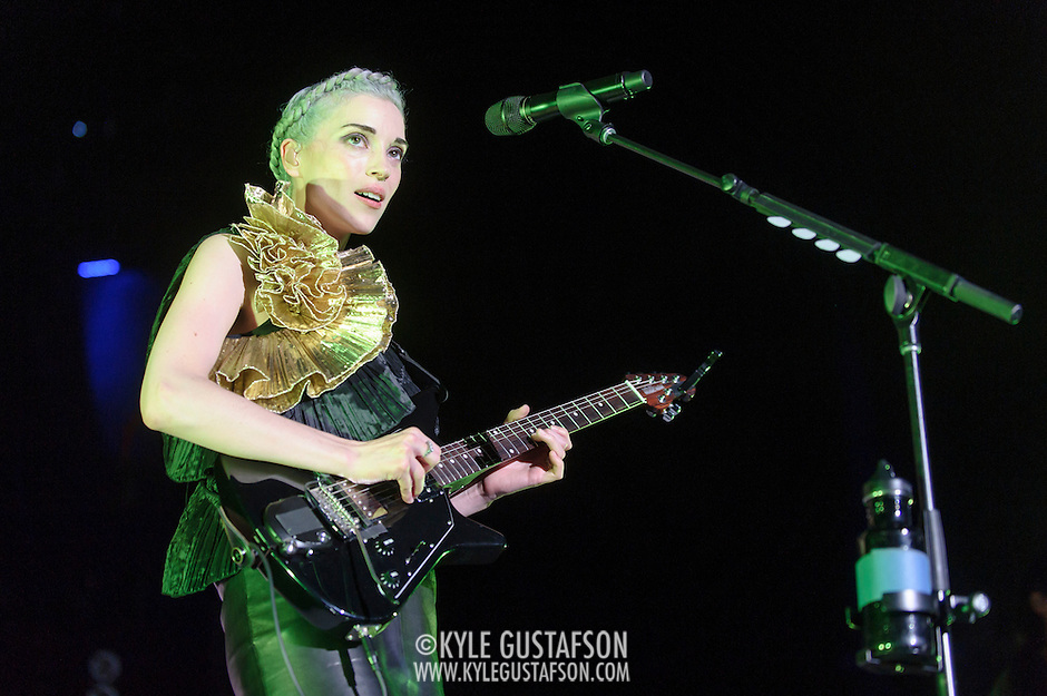 "COLUMBIA, MD - July 17th, 2014 - St. Vincent performs at Merriweather Post Pavilion, opening for Queens of the Stone Age. Her performance included songs such as ""Birth In Reverse"" and ""Surgeon."" (Photo by Kyle Gustafson / For The Washington Post) (Kyle Gustafson/For The Washington Post)"