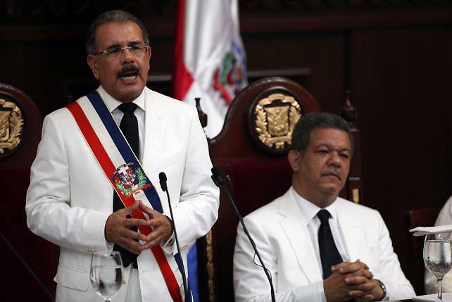 Presidente Danilo Medina y ex presidente Leonel Fernández