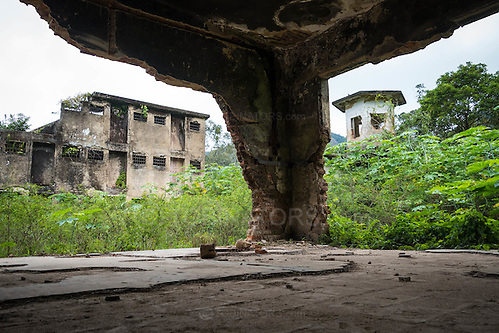 Inside a derelict building in the abandoned prison in Dois Rios on the island of Ilha Grande, Brazil. Photo by Andrew Tobin/Tobinators Ltd (Andrew Tobin/Tobinators)