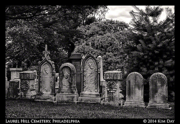 Headstone Row Laurel Hill Cemetery - Philadelphia July 2014 (Kim Day)