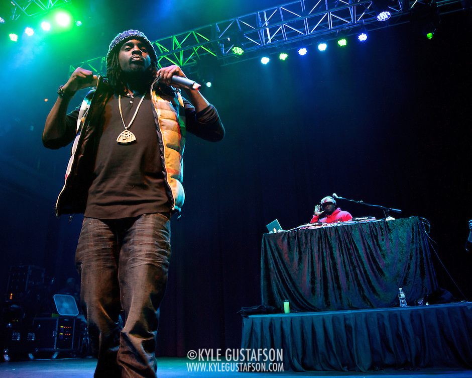 SILVER SPRING, MD - January 1st, 2012 - Rapper and D.C. native Wale performs with DJ 5'9 at the Fillmore Silver Spring in Silver Spring, MD. Wale released his sophomore album, Ambition, in November. (Photo by Kyle Gustafson/For The Washington Post). (Kyle Gustafson/FTWP)