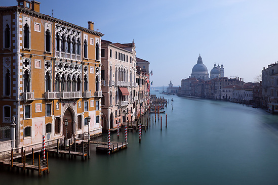 Grand Canal, Palazzo Cavalli-Franchetti and Santa Maria della Salute, viewed from Accademia Bridge, Venice, Italy (Brad Mitchell Photography)