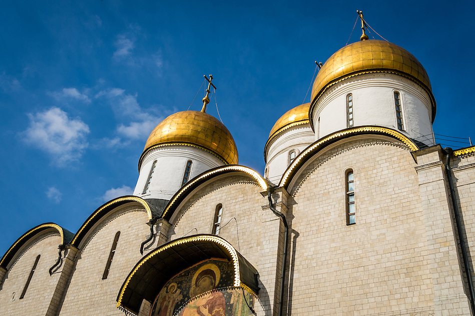Detail view of the The Assumption Cathedral in the Moscow Kremlin (Daniel Korzeniewski)