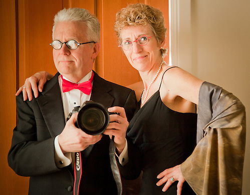 Clark and Mitzi Mishler get ready to head out to the Anchorage Museum Gala (Clark James Mishler)