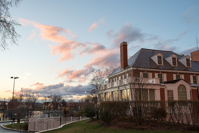 3/18/16 – Medford/Somerville, MA – Tufts campus at sunset on Friday, March 18, 2016. (Evan Sayles / The Tufts Daily (Evan Sayles / The Tufts Daily)