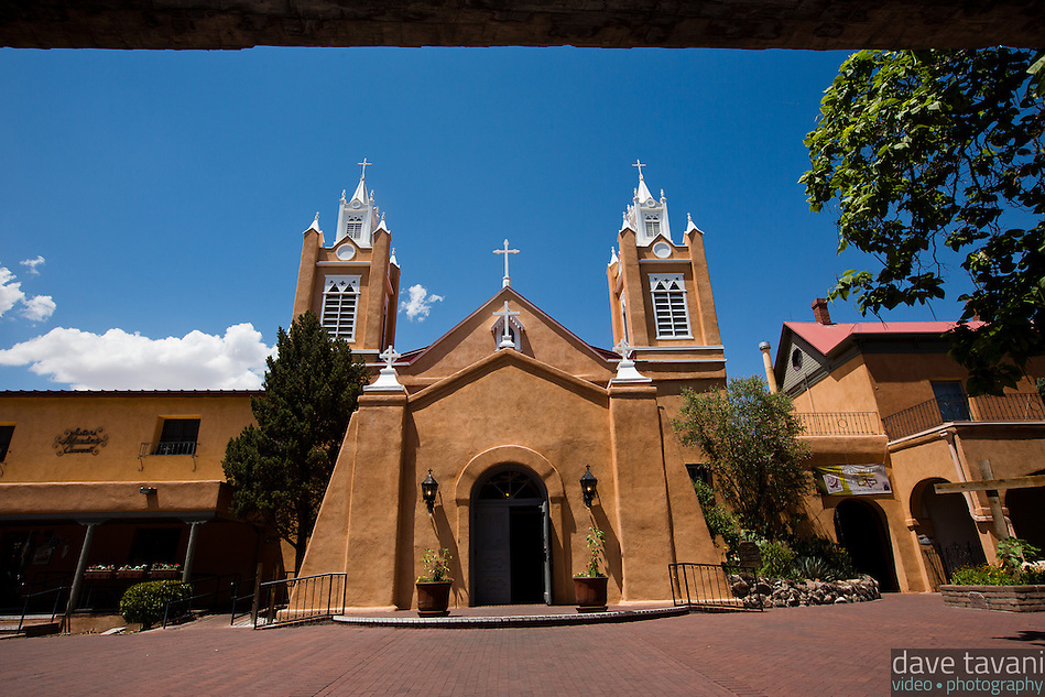 San Felipe de Neri Church sits at the center of Old Town Albuquerque, just across from Old Town Plaza. Built in 1793, San Felipe de Neri still serves as a parish church, while being listed on the Nationa Registry of Historic Places. (Dave Tavani)