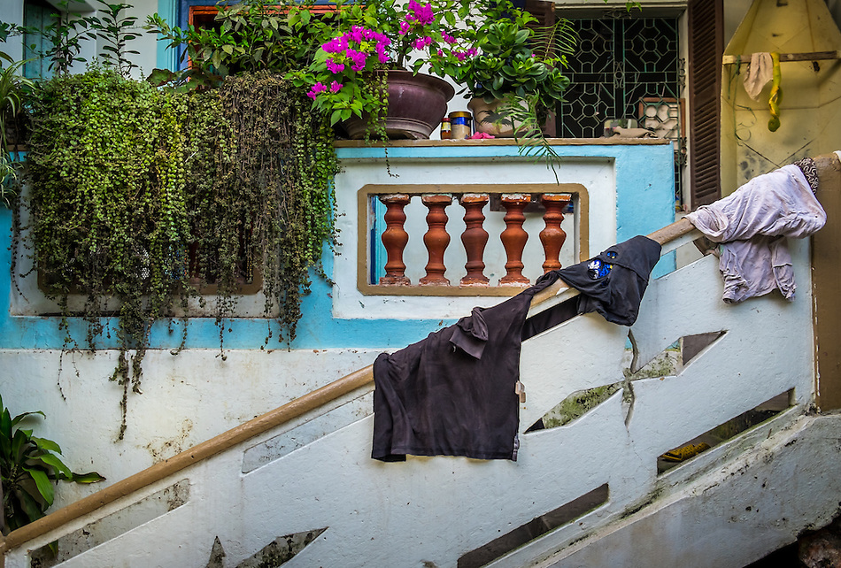 VAN HA, VIETNAM - CIRCA SEPTEMBER 2014:  Entrance of house at the Lang Gom Tho Ha village. The village belongs to the Van Ha commune, it is located 50km away from Hanoi in Northern Vietman (Daniel Korzeniewski)