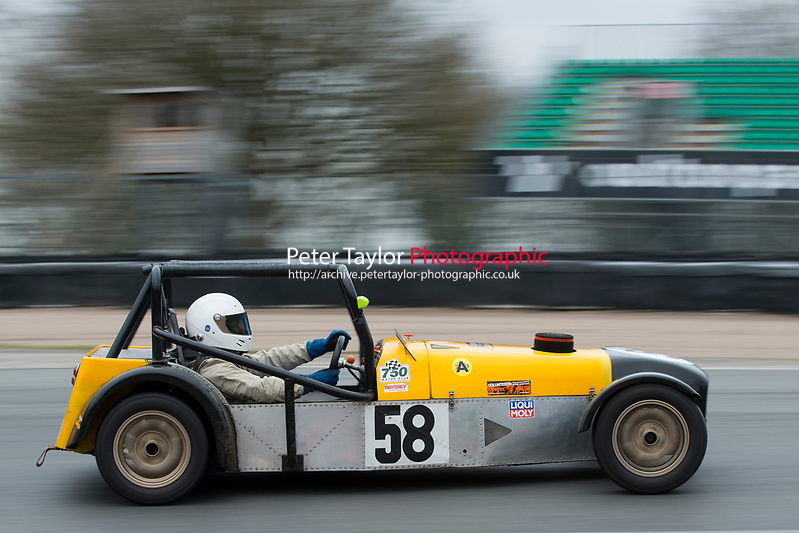 #58 Anthony May Locost 7 during Demon Tweeks / Yokohama Locost Championship as part of the 750 Motor Club at Oulton Park, Little Budworth, Cheshire, United Kingdom. April 01 2017. World Copyright Peter Taylor/PSP. Copy of publication required for printed pictures.  Every used picture is fee-liable. http://archive.petertaylor-photographic.co.uk (Peter Taylor/PSP)