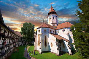 Prejmer ( German: Tartlau) Fortified Church, one of the best preserved of its kind in Eastern Europe was built by the Teutonic Knights in 12 12. Brasov, Transylvania. UNESCO World Heritage Site (Paul E Williams)