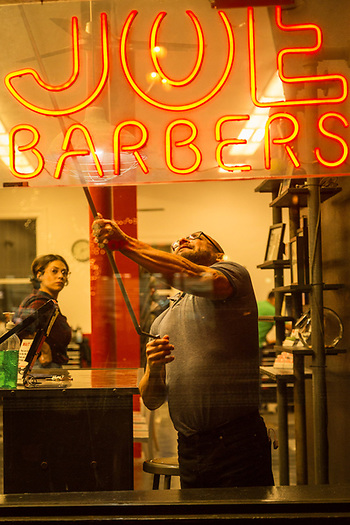 Closing time at Joe's Barber Shop in the Castro District of San Francisco. (Clark James Mishler)