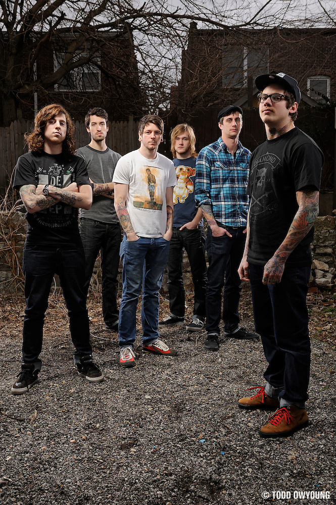 Portraits of metalcore band The Devil Wears Prada, photographed on March 15, 2010 by Todd Owyoung. (TODD OWYOUNG)