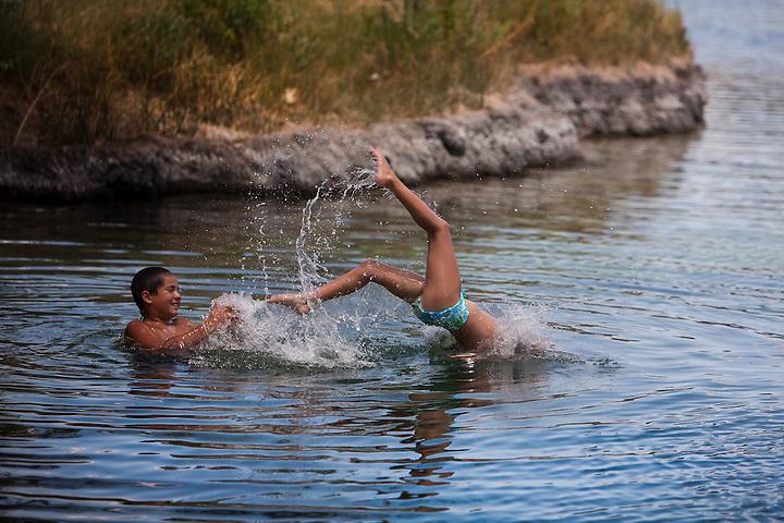 Swiming at Twin Lakes in Santa Rosa New Mexico (Steven St. John)