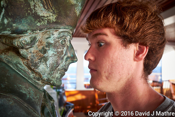 Sunrise Breakfast Club. Face to Face with Frederick the Great. Image taken with a Fuji X-T1 camera and 23 mm f/1.4 lens (David J Mathre)