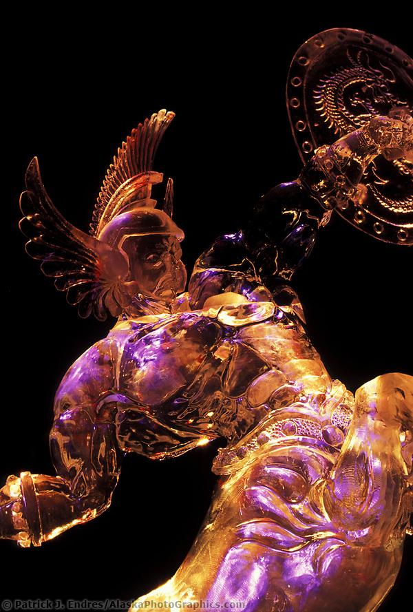 Ice sculpture, World Ice Sculpting Competition, Fairbanks, Alaska (Patrick J. Endres / AlaskaPhotoGraphics.com)