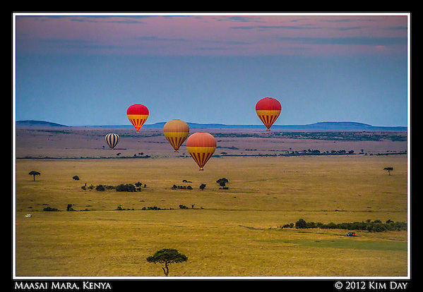 Balloons At Sunrise.Maasai Mara, Kenya.September 2012 (Kim Day)