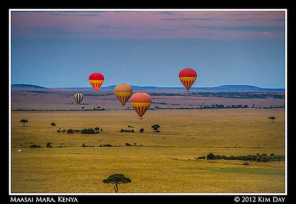 Balloons At Sunrise.Maasai Mara, Kenya.September 2012 (Kim Day)