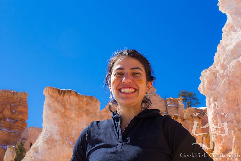 What's a hike without war paint? (Cynthia Kazanis)