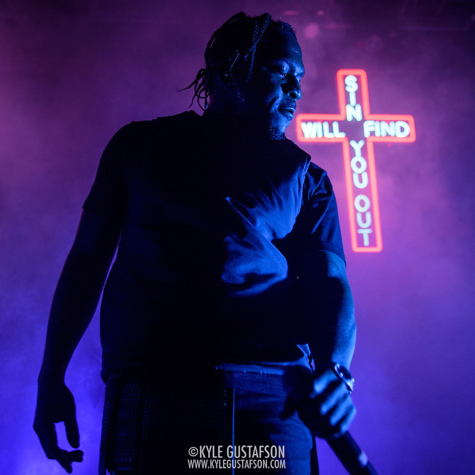 Pusha T performs at the 9:30 Club. He is currently touring behind his second studio album, King Push – Darkest Before Dawn: The Prelude. (Kyle Gustafson)