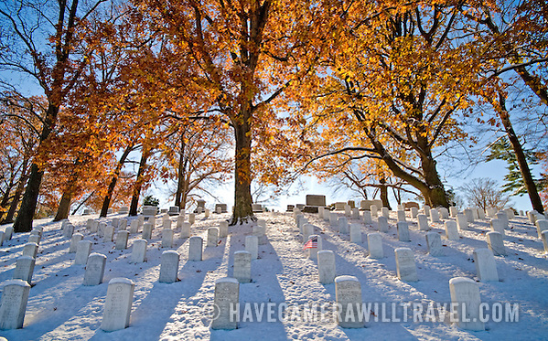 Where to Find Fall Foliage In & Around Washington DC arlington national cemetery in the snow arlington national cemetery arlington g340105223