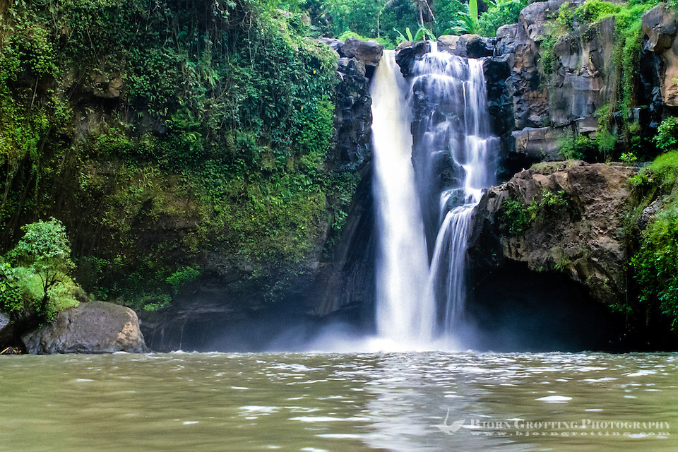 Bali, Gianyar, Tegenungan Waterfall. You can swim in the pool in front of the waterfall, the water is supposed to have magical powers. (Photo Bjorn Grotting)
