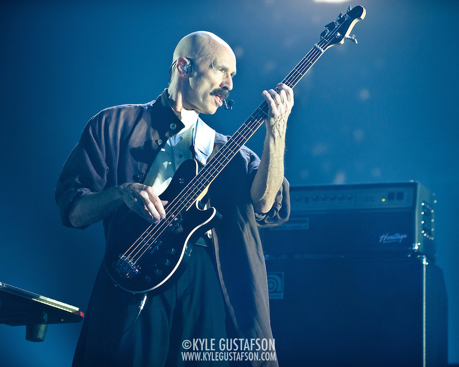 FAIRFAX, VA - October 14th, 2012 - Tony Levin performs at the Patriot Center in Fairfax, VA as part of Peter Gabriel's Back To Front Tour, celebrating the 25th anniversary of his landmark album, So. (Photo by Kyle Gustafson/For The Washington Post) (Kyle Gustafson/For The Washington Post)