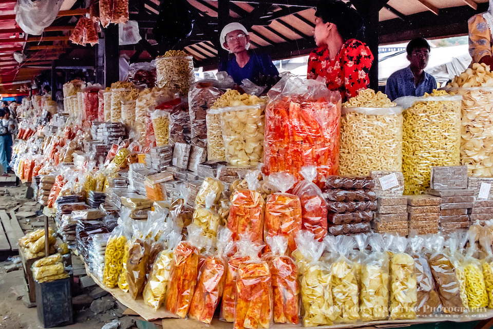 West Sumatra, Bukittinggi. Krupuk or kerupuk are crackers made from starch and other ingredients that usually give the taste. A local variant of crackers, Karupuak sanjai, is very popular in Bukittinggi. (Photo Bjorn Grotting)