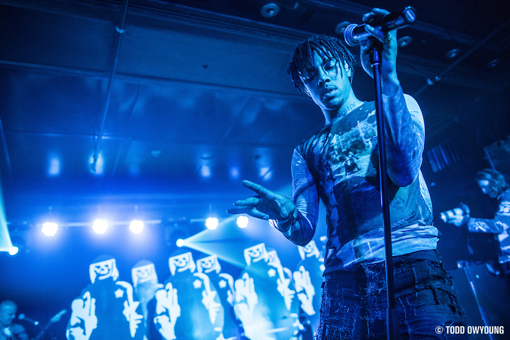 Vic Mensa photographed performing at Webster Hall in New York City on June 5, 2016. (Todd Owyoung)