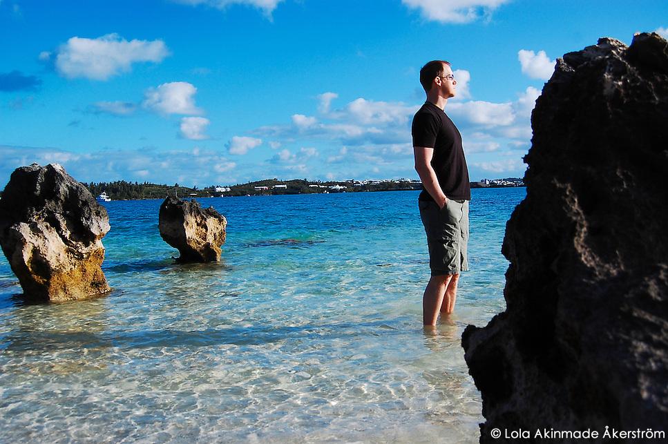 Postcard: Blue sky on blue sea