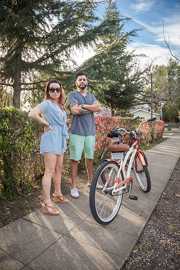 "Napa residends Katie Etie and her boy friend Eladio Miranda on a ""stay-cation"" in Calistoga. (Clark James Mishler)"