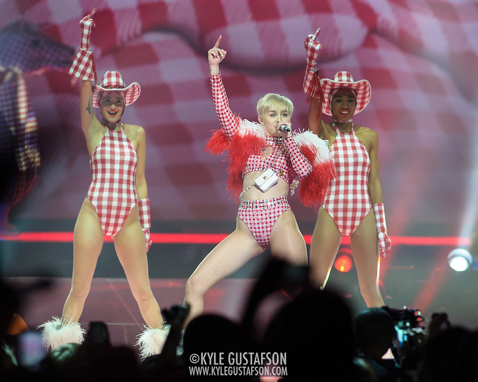 WASHINGTON, DC - April 10th, 2014 - Miley Cyrus performs at the Verizon Center in Washington, D.C. as part of her Bangerz Tour. (Photo by Kyle Gustafson / For The Washington Post) (Kyle Gustafson/For The Washington Post)