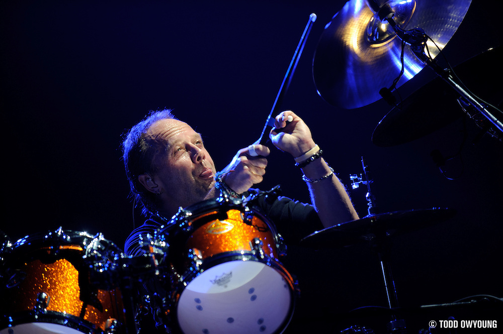 Drummer Lars Ulrich of pioneering heavy metal band Metallica photographed on November 17, 2008. (Todd Owyoung)