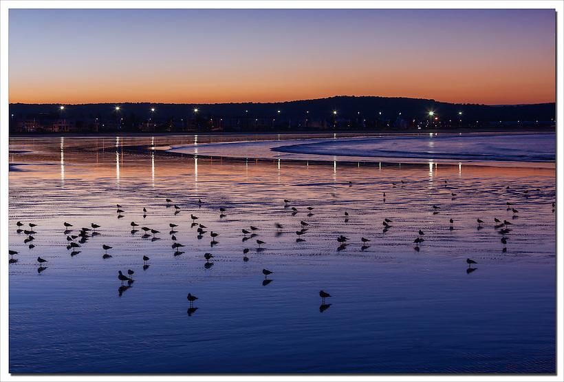Coastal town Essaouira before sunrise, Morocco. (Rosa Frei)