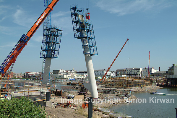 Marine Way Bridge Southport Under Construction - Progress Photography By Simon Kirwan