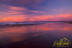 Sunset, reflection Morro Bay, California, san luis obispo county, central coast,