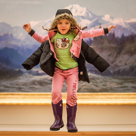 Five year old Addison Anderson at the Anchorage Museum.  Monica (mom) @ mrd722@hotmail.com (Clark James Mishler)