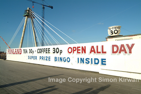 Southport Funland Open All Day Tea 30p Coffee 30p Super Prize Bingo - Photo By Simon Kirwan