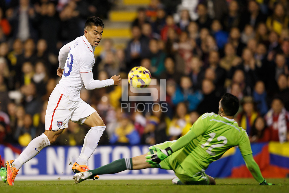 London, UK - Friday, November 14, 2014: Colombia defeated USMNT 2-1 in an international friendly game at Fulham's Craven Cottage. (Ben Queenborough/isiphotos.com)