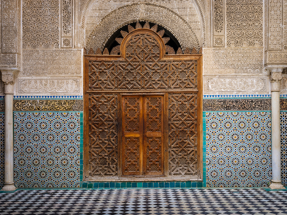 FEZ, MOROCCO - CIRCA APRIL 2017: Interior view of typical Moroccan patio in Fez (Daniel Korzeniewski)