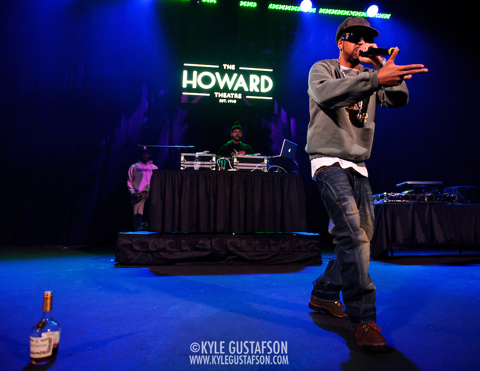 WASHINGTON, DC - January 22nd, 2013 - Long Island rapper Roc Marciano (right) performs with DJ Alejandro at the Howard Theater in Washington, D.C.  His sophomore album, Reloaded, was released to widespread acclaim in November 2012. (Photo by Kyle Gustafson/For The Washington Post) (Kyle Gustafson/For The Washington Post)